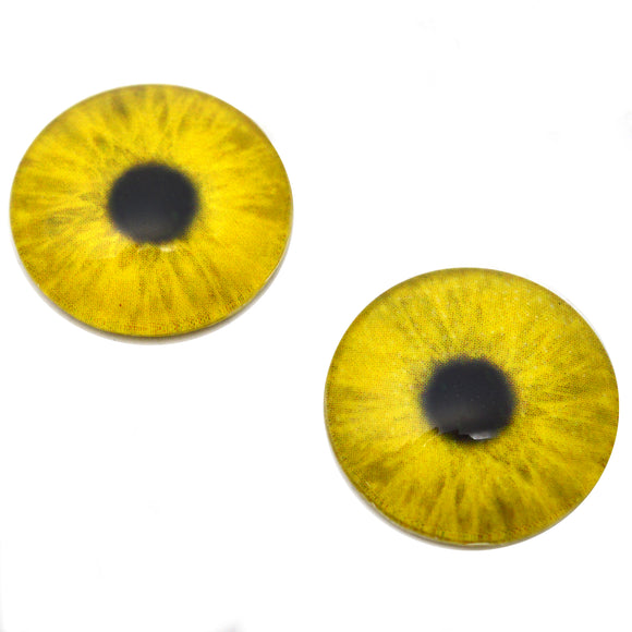 25mm Yellow Zombie Glow in the Dark Eyes