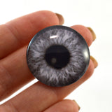 Black and White Gray Steampunk Glass Eye