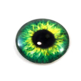 Bright Green Clockface Steampunk Glass Eye