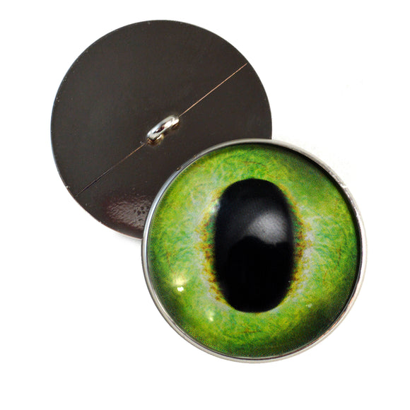 Sew On Buttons Friendly Green Dragon Glass Eyes