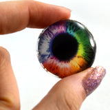 rainbow glass eye