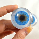 Blue Human Glass Eyes with Whites