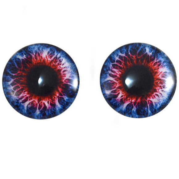 Blue and Red Fantasy Glass Eyes