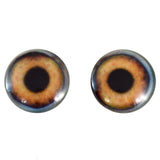 40mm brown dog glass eyes