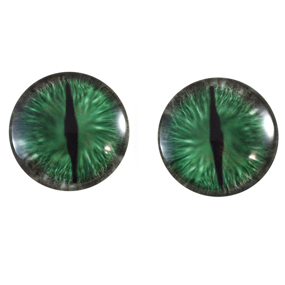 Green and Gray Dragon Glass Eyes