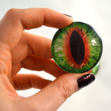 green and orange cat eye