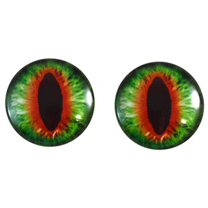 Green and Orange Dragon Glass Eyes