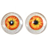 Orange and Yellow Human Glass Eyes with Whites