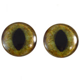 realistic green and brown glass cat eyes