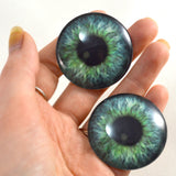 Teal Green Fantasy Human Glass Eyes