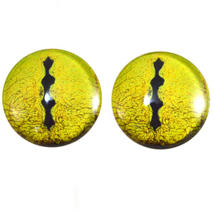 Yellow Snake Reptile Glass Eye