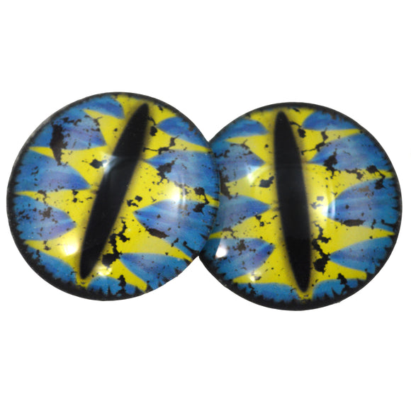 Blue and Yellow Fantasy Dragon Glass Eyes