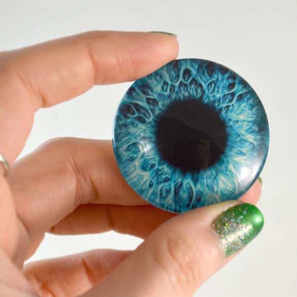 Bright Blue Human Glass Eye