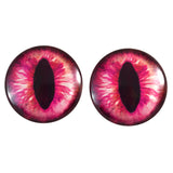 Hot Pink Dragon or Cat Glass Eyes