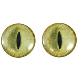 40mm pale yellow cat eyes
