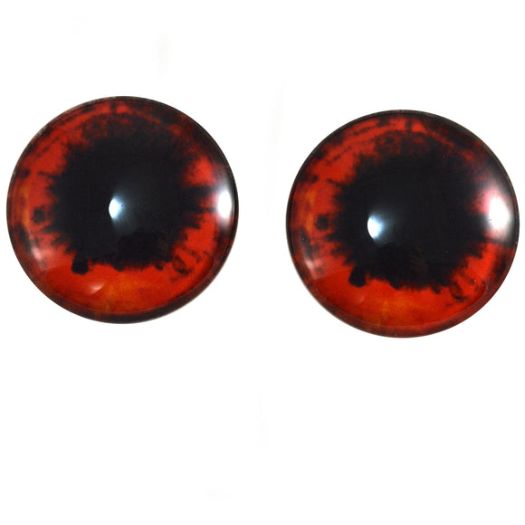 Red and Black Vampire Scary Glass Eyes