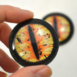40mm Yellow and Orange Dragon Glass Eyes
