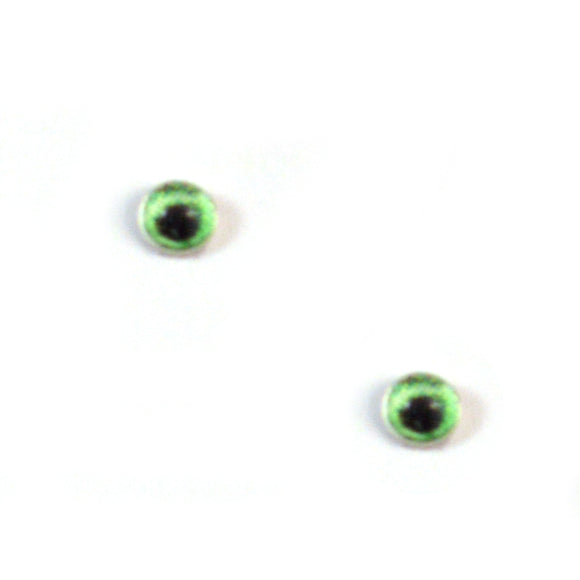 4mm Miniature Bright Green Doll Glass Eyes