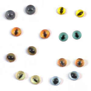 8 Pairs of 4mm Cat Glass Eyes