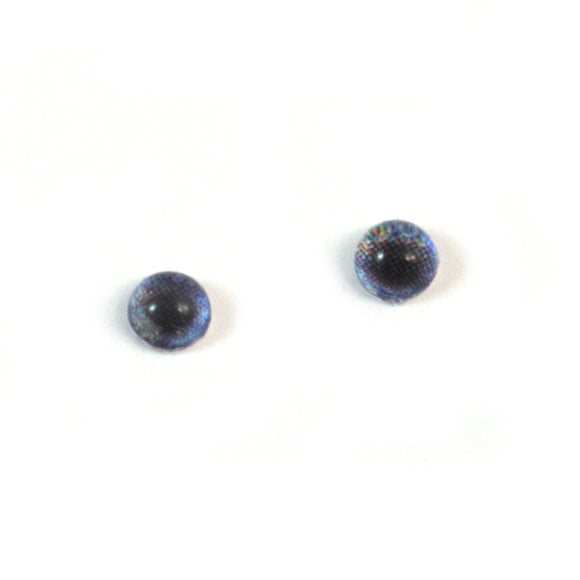 4mm Miniature Dark Blue Human Doll Glass Eyes