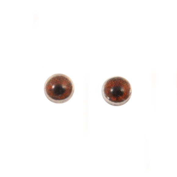 4mm Miniature Dark Brown Doll Glass Eyes