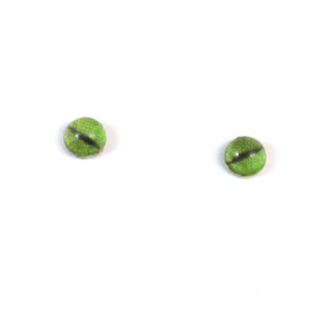 4mm Tiny Green Dragon Glass Eyes