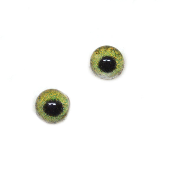 4mm Tiny Hazel Green Doll Human Small Iris Glass Eyes