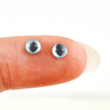 4mm Miniature Pale Blue Cat Glass Eyes