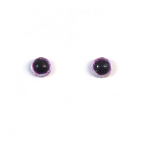 4mm Miniature Light Purple Doll Glass Eyes