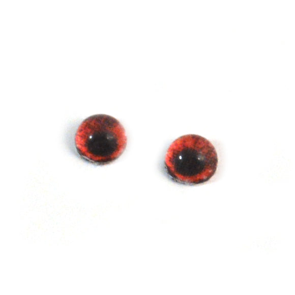 4mm Miniature Red Demon Glass Eyes