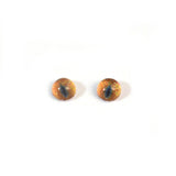 4mm Tiny Teal and Yellow Cat Glass Eyes