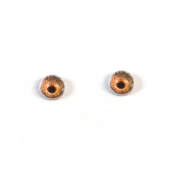 4mm Miniature Light Brown Doll Glass Eyes
