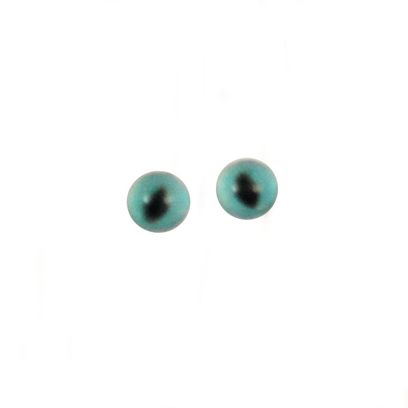 4mm Miniature Turquoise Blue Cat Glass Eyes