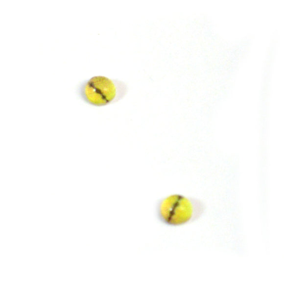 4mm Miniature Yellow Snake Glass Eyes