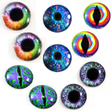 Wild Colorful Glass Eyes Bundle - 5 Pairs