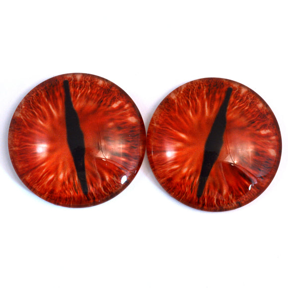 50mm Red Dragon Glass Eyes - Large 2 Inch Fantasy Eyes