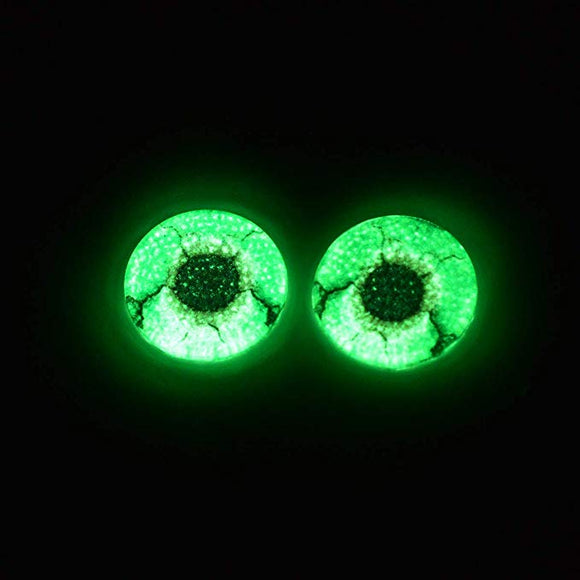20mm Glow in the Dark Green Zombie Glass Eyes