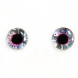 Clockwork Steampunk Glass Eyes in Purple and Blue