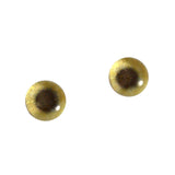 6mm gold metallic glass eye