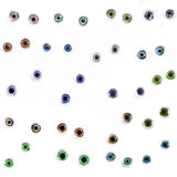 Wholesale Lot 20 Pairs of 6mm Doll Glass Eyes with Whites