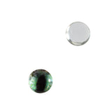 6mm Green and Peach Dragon Glass Eye