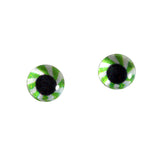 Green Mint Candy Glass Eyes