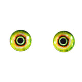 Tiny Green and Yellow Monster Glass Eyes