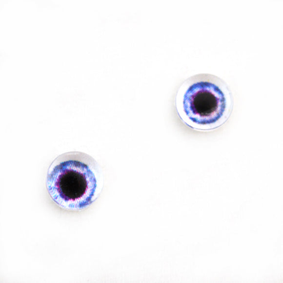 6mm Light Purple Doll Glass Eyes with Whites