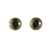 6mm realistic green and brown cat eyes