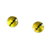 Yellow Snake Reptile Glass Eyes