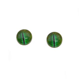 8mm Glow in the Dark Green Dinosaur Glass Eyes
