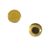 8mm gold metallic glass eye