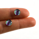 8mm Green and Purple Fantasy Dragon Glass Eyes