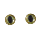 8mm realistic green and brown cat eyes
